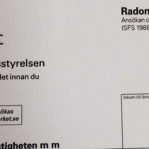 Radonbidragsansökan