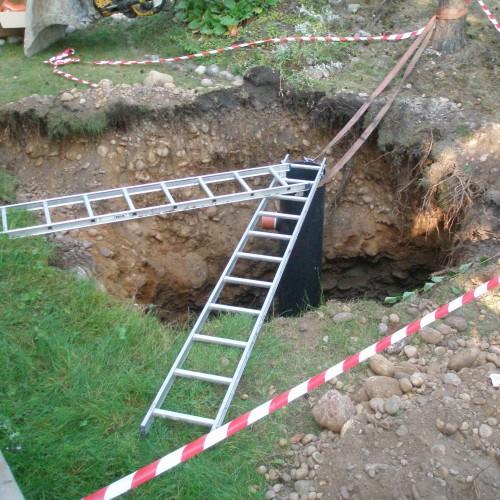 Radonbrunn installeras