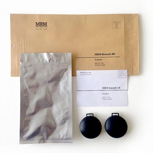 Radonmätning, komplett mätpaket, 2 spårfilmsdosor
